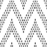 Vektor ikat nahtloses Muster in der ethnischen Art stock abbildung