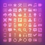Vektor-Ikone der Universalebenen-64 eingestellt für Netz Lizenzfreie Stockfotografie