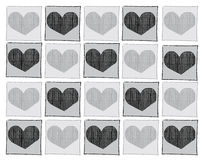 Vektor-Ikonen-Herz lizenzfreie abbildung
