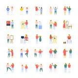 Vektor-Ikonensammlung der Leute flache Lizenzfreie Stockfotografie
