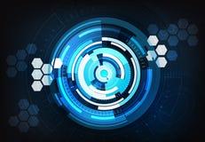 Vektor-Illusionshintergrund der Technologie abstrakter stockfotos