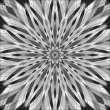Vektor-Illustration - abstraktes helles rundes Verzierungs-Muster in Gray Colors Abstrakte Mandala Background Stockbilder