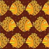Vektor-Illustration auf Lager: nahtlose Fische Lizenzfreie Stockfotos
