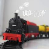 Vektor-Illustration der Dampf-Lokomotive Lizenzfreie Stockfotografie