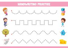 Vektor-Illustration der Handschrifts-Übung stock abbildung