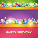 Vektor-Illustration des alles- Gute zum Geburtstagdesigns Stockfotos