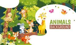 Vektor-Illustration des Tier-Hintergrundes stock abbildung