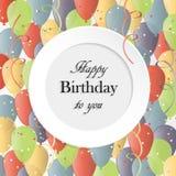 Vektor-Illustration einer alles- Gute zum Geburtstaggruß-Karte Lizenzfreies Stockfoto