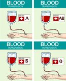 VEKTOR-ILLUSTRATION EINER BLUTTRANSFUSION Stockbilder