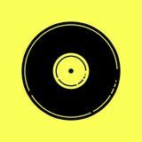 Vektor-Illustration einer leeren schwarzen Vinylaufzeichnung Stockbild