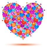 Vektor-Illustration einer Valentinsgruß-Tageskarte Lizenzfreies Stockbild