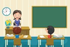 Vektor-Illustration eines Lehrers Teaching Lizenzfreie Stockfotografie