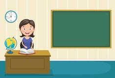 Vektor-Illustration eines Lehrers Teaching Stockfotografie