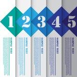 Vektor-Illustration, Fahnen-Schablone für Planungsarbeit Lizenzfreie Stockfotografie