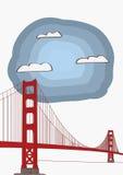 Vektor-Illustration Golden gate bridges Stockfotos