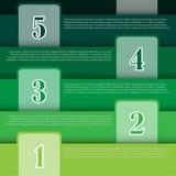 Vektor-Illustration, Infographic-Fahne für kreative Arbeit Lizenzfreies Stockfoto