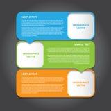 Vektor-Illustration, moderne Fahne für Design und kreative Arbeit Lizenzfreie Stockbilder