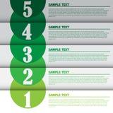 Vektor-Illustration, moderne Infographic-Fahne für kreative Arbeit Stockbilder
