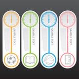 Vektor-Illustration, moderne Uhr-Fahne für Design und kreativ vektor abbildung