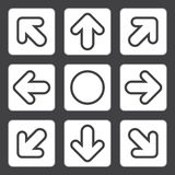 Vektor, Illustration, Pfeil-Ikone für kreative Arbeit Lizenzfreies Stockbild