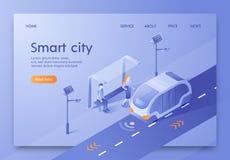 Vektor Illustration schriftliches Smart City isometrisch vektor abbildung