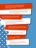 Vektor-Illustration, Unabhängigkeitstag von Amerika-Design Lizenzfreie Stockbilder