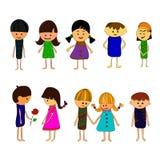 Vektor-Illustration von Kindern lizenzfreie abbildung