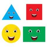 Vektor-Illustration von lächelnden Formen stock abbildung