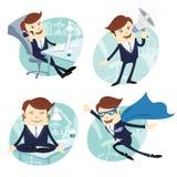 Vektor-Illustrations-Büromannsatz Lizenzfreie Stockbilder