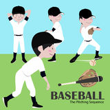 Vektor-Illustrations-Baseball-Spieler Stockbilder