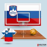 Vektor-Illustrations-Basketball-Hintergrund Stockfoto