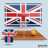 Vektor-Illustrations-Basketball-Hintergrund Stockfotos