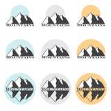 Vektor-Illustrations-Berge auf Lager eingestellt Stockbilder