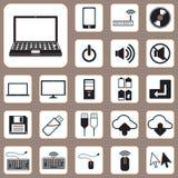 Vektor-Illustrations-, Computer-und Gerät-Ikone für Design und Cre Stockfotografie