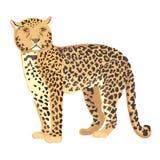 Vektor-Illustrations-Gepard-Stellung vektor abbildung