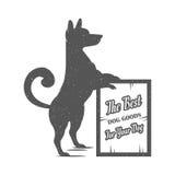 Vektor-Illustrations-lustiger Hund Lizenzfreie Stockfotos