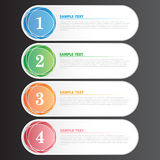 Vektor-Illustrations-moderne Fahne für Design und kreative Arbeit Lizenzfreies Stockfoto
