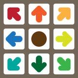 Vektor-Illustrations-Pfeil-Ikone für Planungsarbeit Lizenzfreies Stockfoto