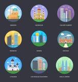 Vektor-Illustrations-Satz Weltstädte Lizenzfreie Stockfotografie