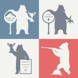 Vektor-Illustrations-Spaß-Bär Stockbilder