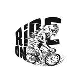 Vektor-Illustrationsdesign des Fahrrades riging vektor abbildung