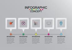 Vektor-Illustrationsgraphik Schablone der Geschäftsinformationen grafische an stockfoto