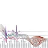 Vektor-Illustrationsherz-Rhythmus ekg Stockfoto