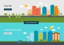 Vektor-Illustrationsikonen des flachen Designs moderne eingestellt Lizenzfreie Stockfotografie
