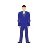 Vektor-Illustrationskonzept der flachen Designart modernes von erfolgreichem businessan auf weißem Hintergrund Stockfotografie