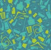 Vektor illustratuon der Reinigung Ikonen-Hintergrund Stockfotografie