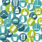 Vektor illustratuon der Reinigung Ikonen-Hintergrund Stockfotos