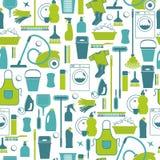 Vektor illustratuon der Reinigung Ikonen-Hintergrund Lizenzfreie Stockbilder