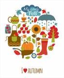 Vektor illustratuon des Herbstes Lizenzfreies Stockbild