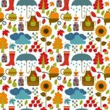 Vektor illustratuon des Herbstes nahtlos Lizenzfreies Stockbild